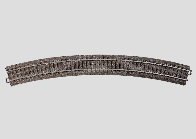 Gebogenes Gleis Radius 5=643,6 mm 30° Spur H0 C-Gleis
