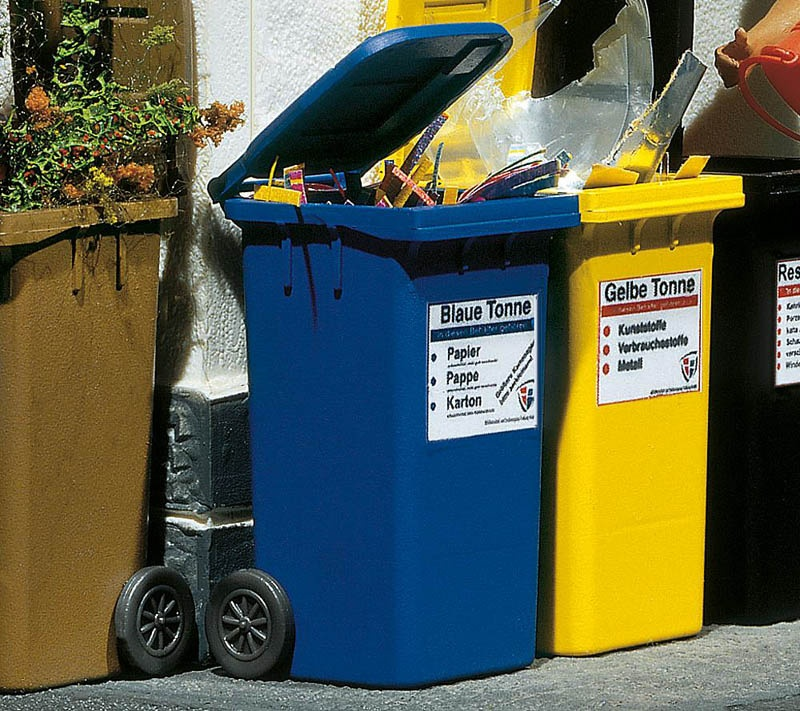 2 Mülltonnen, blau Bausatz G
