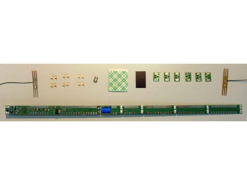 LED-Beleuchtungssatz für 4-achsige H0-Wagen
