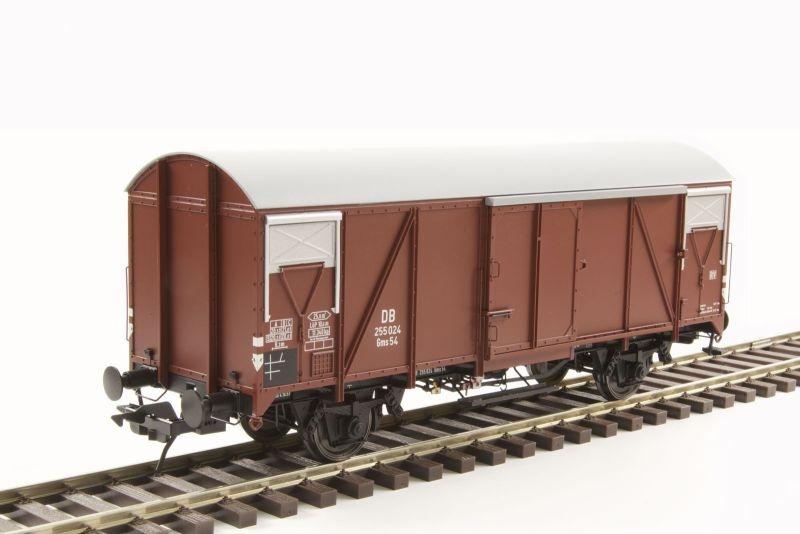 Güterwagen Gms 54, PVC-Dach, Epoche III, Spur 0