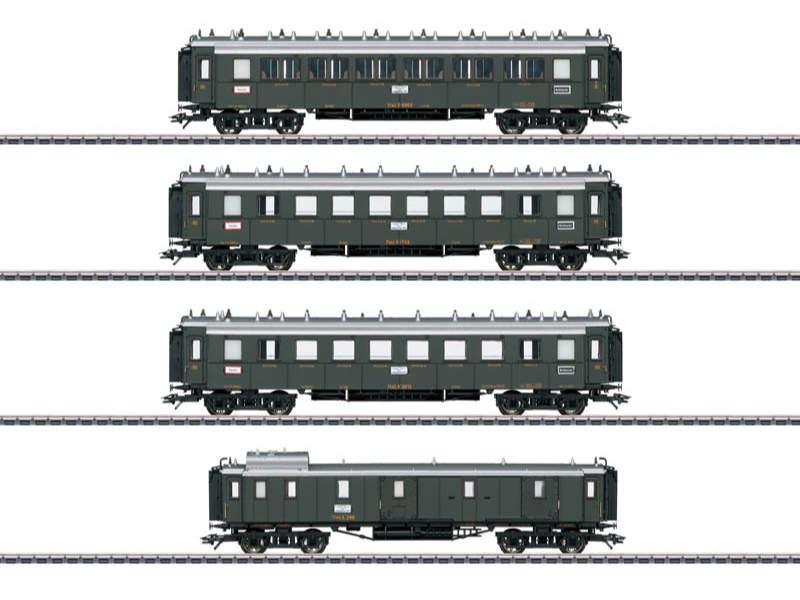 Schnellzugwagen-Set Pfalzbahn H0