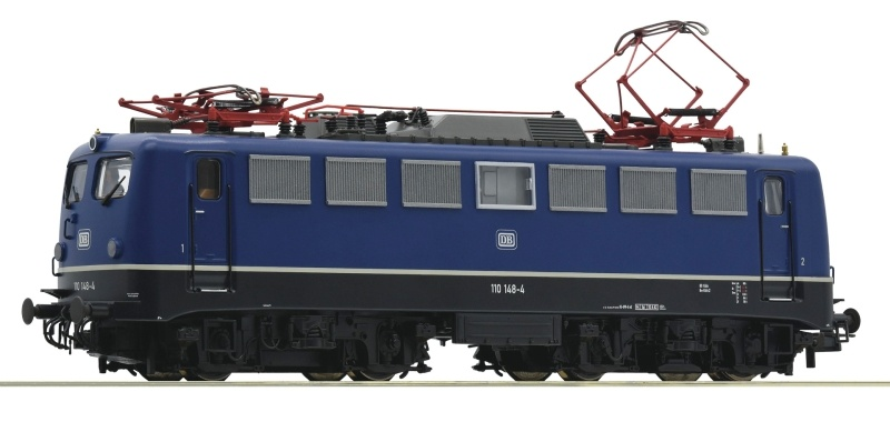 Elektrolokomotive 110 148-4 der DB blau, DC, Spur H0