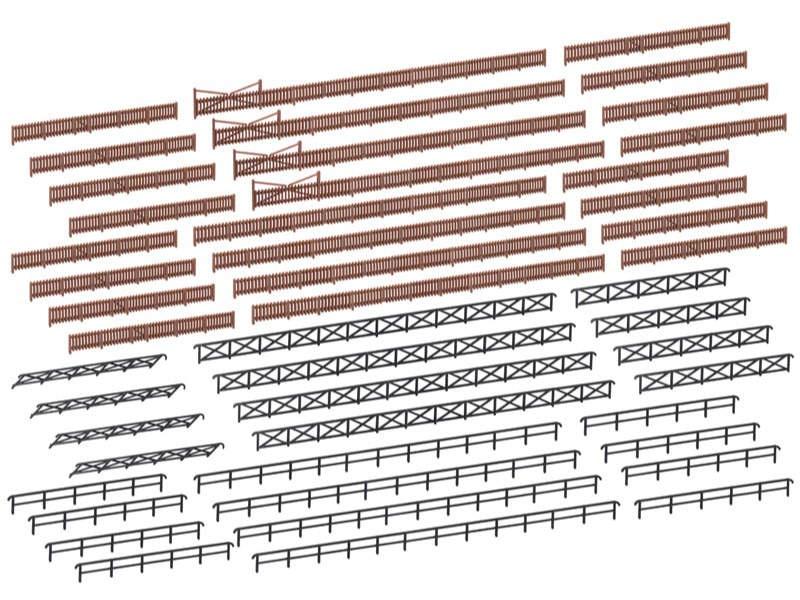 Zaun für Industrie- und Bahnanlagen,360cm, Bausatz, Spur N