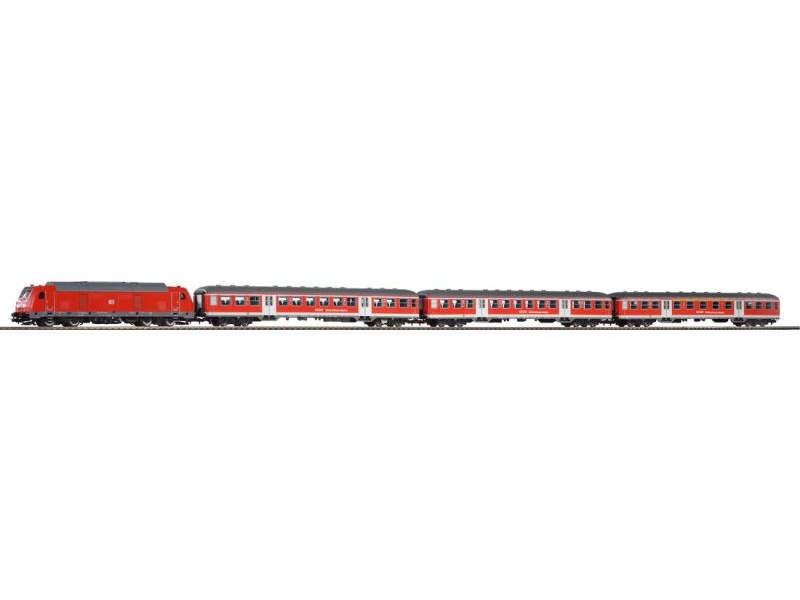 Zugset BR 245 der DB AG, mit Nahverkehrswagen, Epoche VI, H0