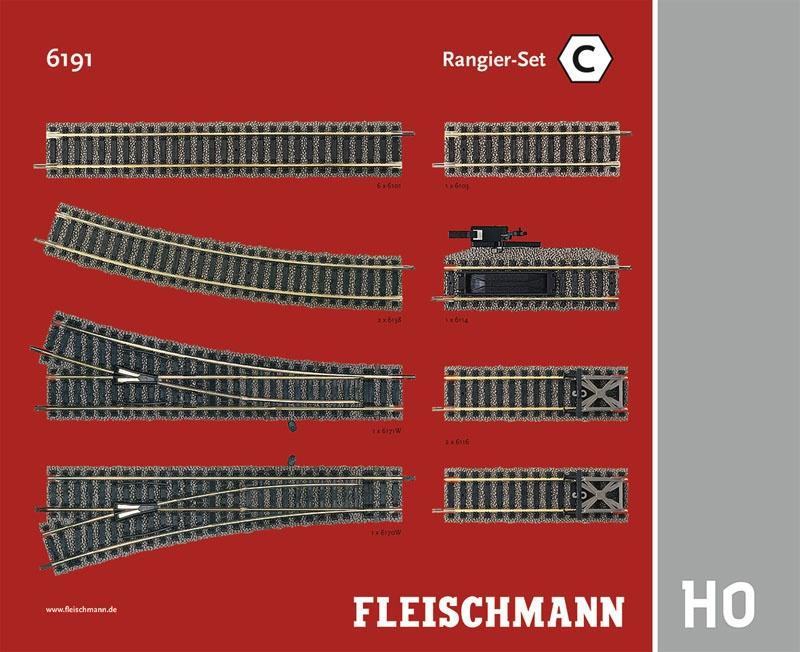 Rangier-Set C Gleiserweiterung Profi-Gleis H0