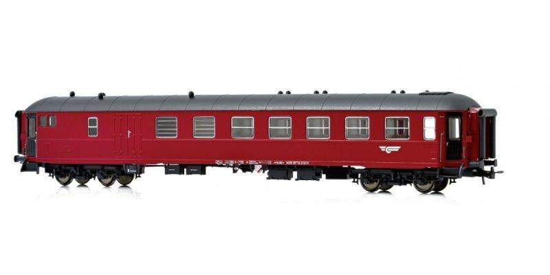 Topline Personenwagen BF10 21514 der NSB, Rot/Schwarz, H0