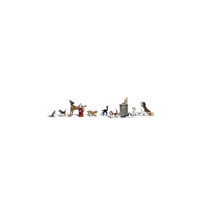 Hunde und Katzen Figuren, Spur N