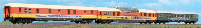 3-tlg. Personenwagen-Set Apfelpfeil, Ep. IV, 1:87 / H0