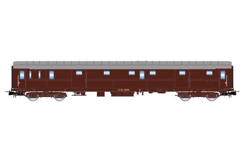 Post-/Gepäckwagen 49 Castano der FS, Ep. IV, DC, Spur H0