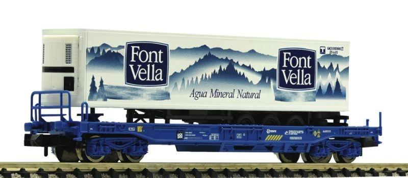 Einheitstaschenwagen mit Auflieger Font Vella der RENFE, N