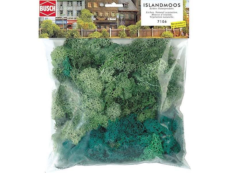 Islandmoos, Hell- und dunkelgrün, Großpackung, 150 g