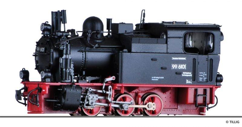 Dampflokomotive 99 6101 der HSB, Spur H0m