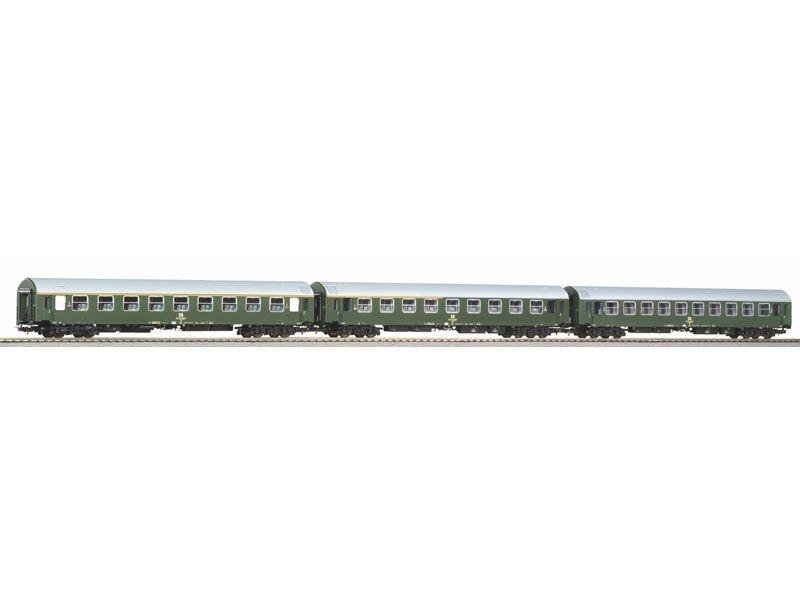 3er Set Y-Wagen D 300 der DR, Ep. IV, Set 1, DC, Spur H0