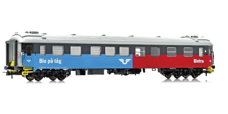 Topline Kino und Bistrowagen S11 4871 der SJ, Inter-Regio,H0