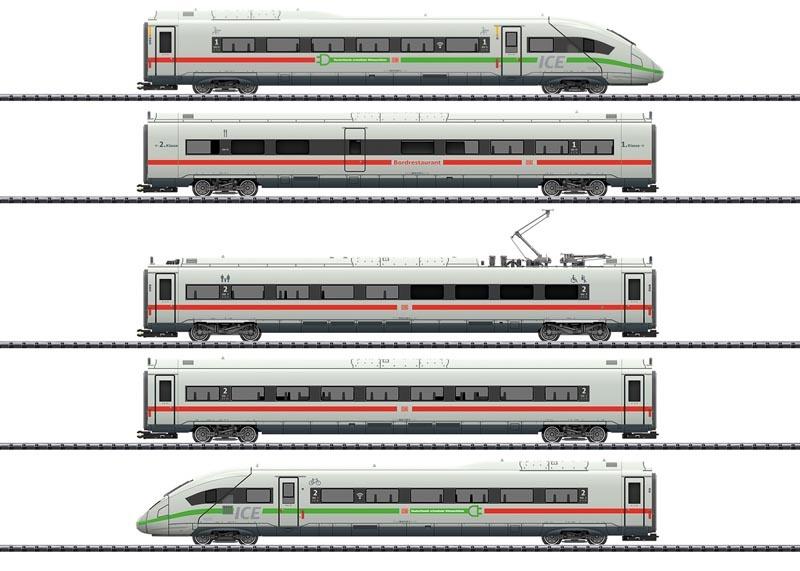 Triebwagenzug ICE 4 BR 412/812 grüne Streifen, Sound mfx, H0