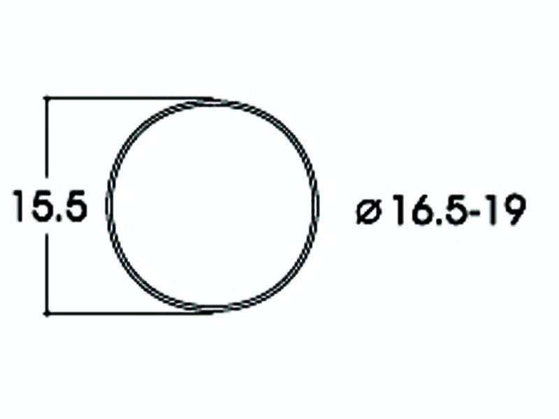 Haftringsatz DC 16,5-19 mm H0