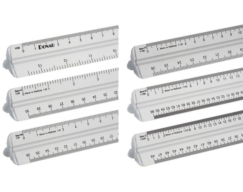 Alu Maßstabslineal 300 mm