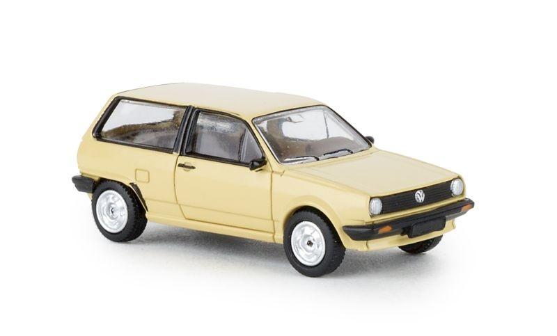 VW Polo II, beige, 1985, 1:87 / Spur H0