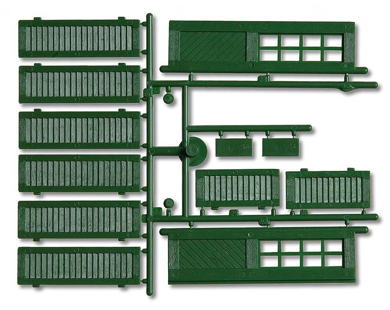 Fensterläden und Türen, grün 12-teilig G