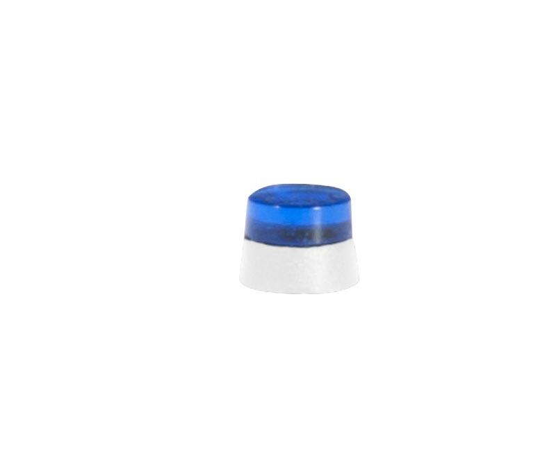 Flache Rundumleuchten für LKW, blautransparent, 20 Stück, H0