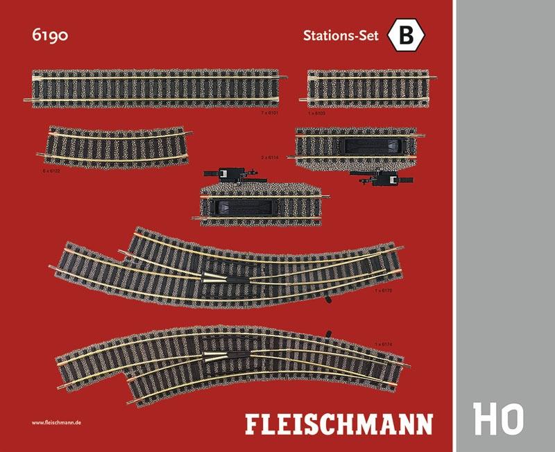 Stations-Set B Gleiserweiterung Profi-Gleis H0