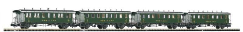 Personenwagenset Oldtimer der SBB, Epoche III, Spur N