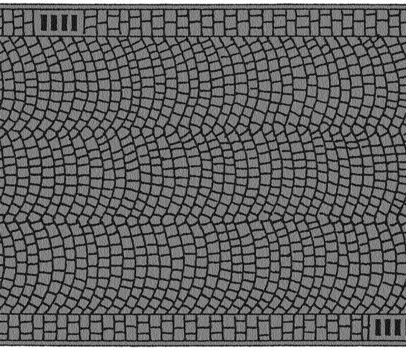 Kopfsteinpflaster, 100 x 6,6 cm Spur H0