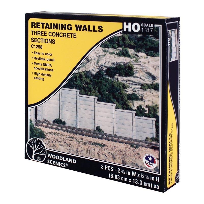 Retain Wall - Stützmauer Beton, Spur H0