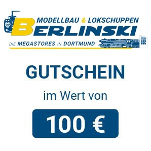 Modellbau & Lokschuppen Berlinski Geschenkgutschein 100 EUR