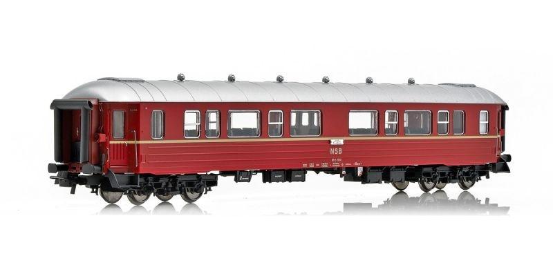 Topline Personenwagen B3-2 25502, Typ 3 der NSB, Rotbraun,H0