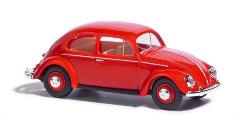 VW Käfer mit Brezelfenster, Rot, Spur H0