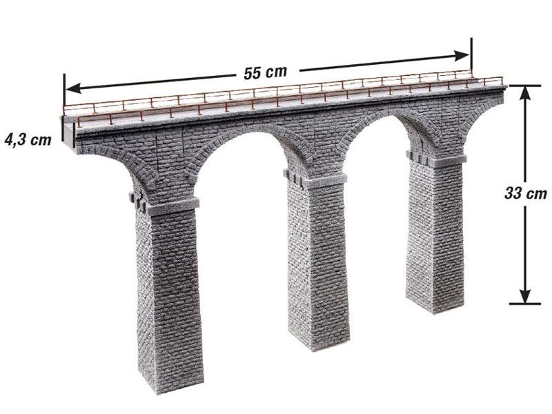 Ravenna-Viadukt aus Struktur-Hartschaum Spur H0