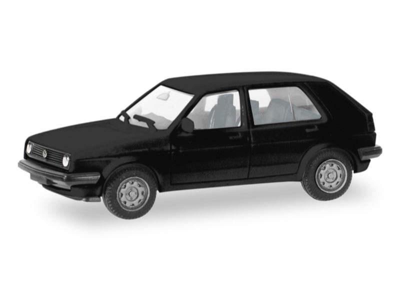 MiniKit: VW Golf II 4-türig, schwarz, 1:87 / H0