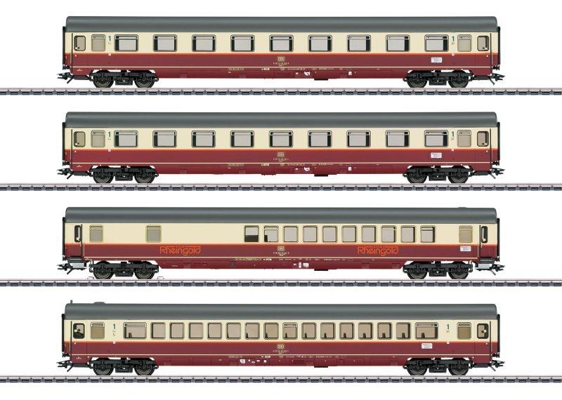 Personenwagen-Set Rheingold-Flügelzug, DB, AC, MHI, Spur H0