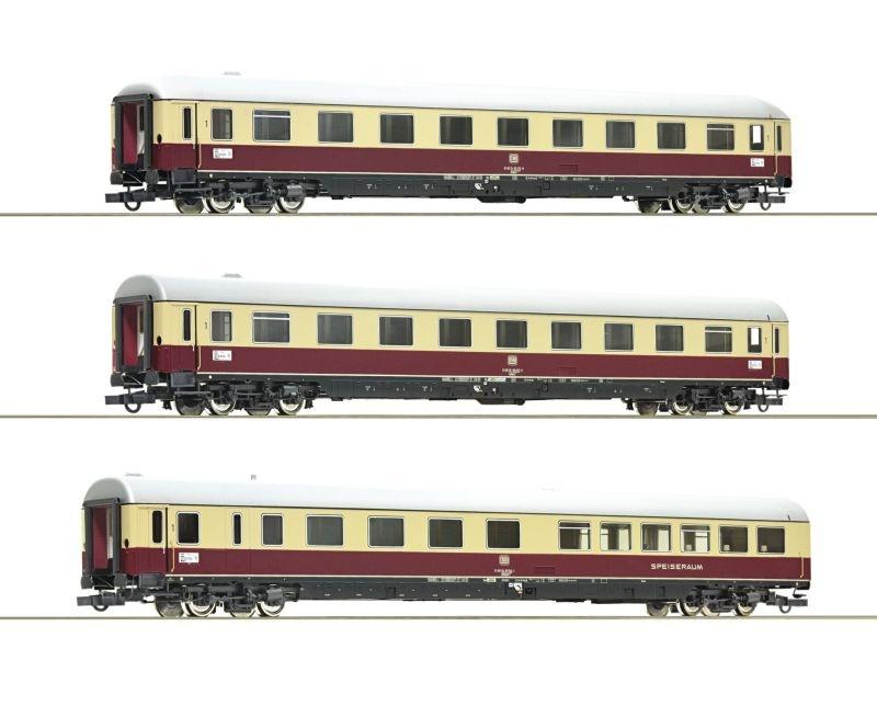 3-tlg. Set 1: TEE 74/75 Roland, DB, DC, Spur H0