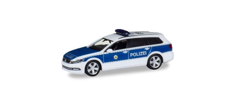 VW Passat Variant Bundespolizei Dachkennung: 15-895, H0