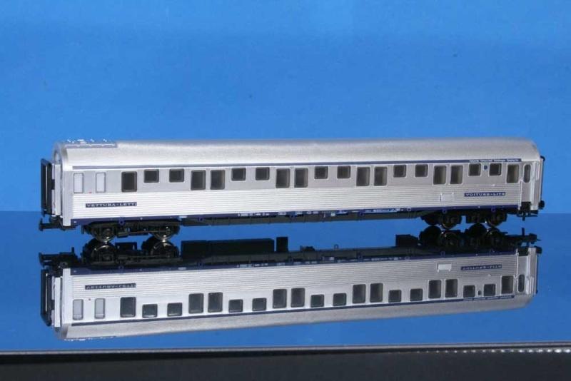 Schlafwagen Typ P, SNCF, silbern mit TEN-Logo, DC, Spur H0