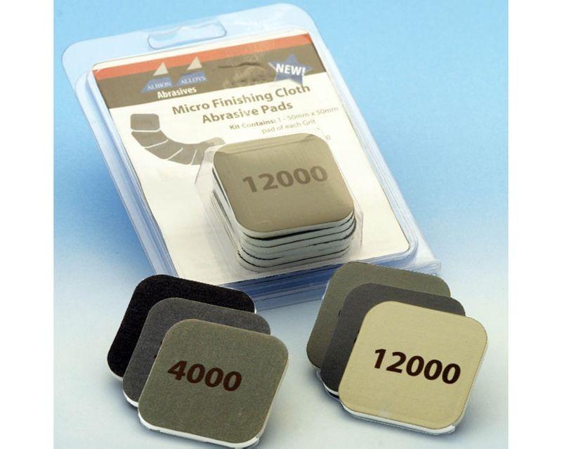 Mikro-Schleifleinen Pad - 6er-pack 50mm x 50mm