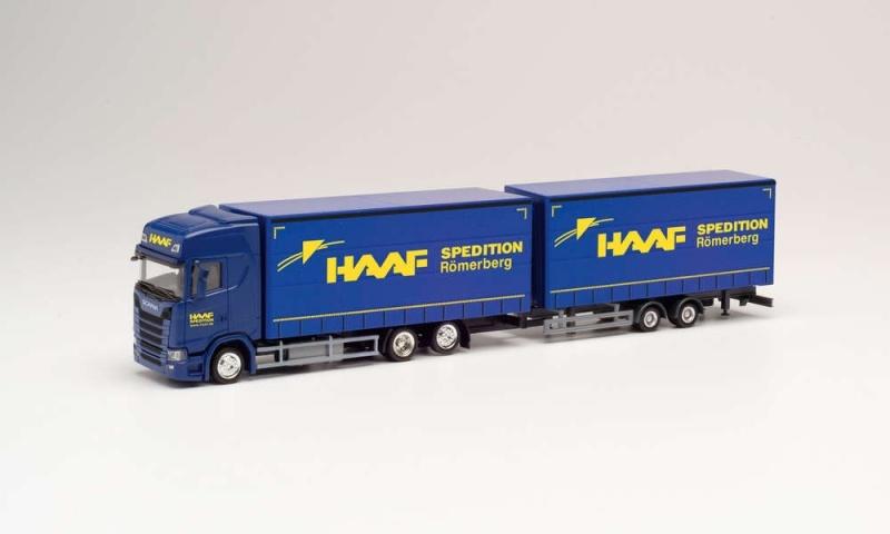 Scania CS 20 HD Volumen-Hängerzug Haaf Spedition 1:87 / H0
