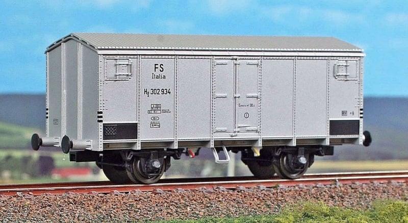 Kühlwagen Typ HG mit Bremserhaus, FS, Alu-Lackierung, DC, H0