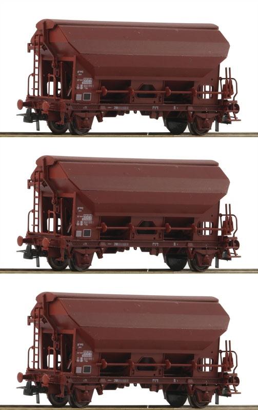 Schwenkdachwagen-Set 3-tlg. SNCB H0