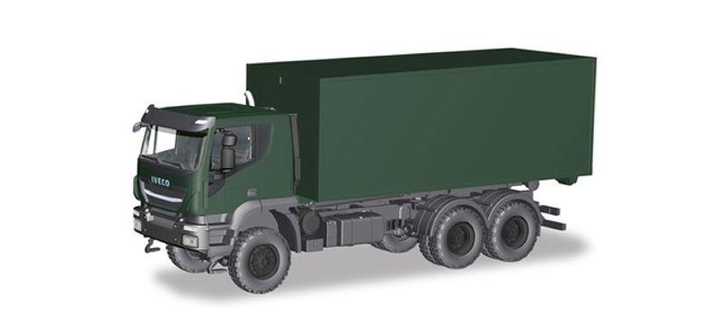 Iveco Trakker 6x6 Abrollcontainer-LKW Bundeswehr, 1:87