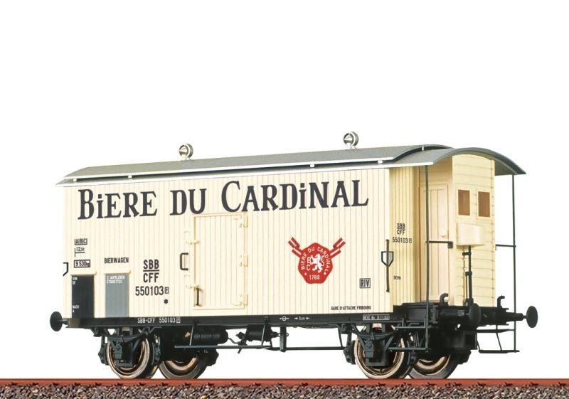 Gedeckter Güterwagen K2 Biere du Cardinal der SBB, DC, H0
