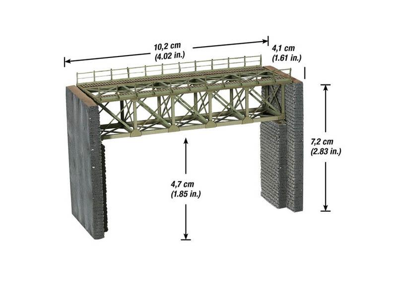 Stahl-Brücke Laser-Cut Bausatz Spur N