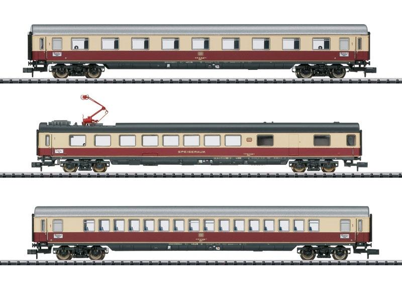Schnellzugwagen-Set IC 142 Germania, DB, Minitrix Spur N