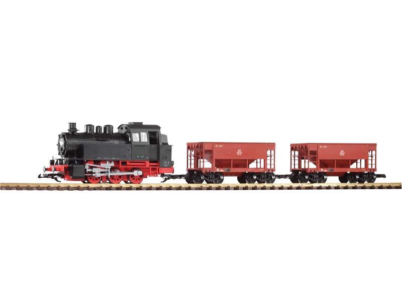 Start-Set Güterzug BR 80 + 2 Schüttgutwagen, Spur G