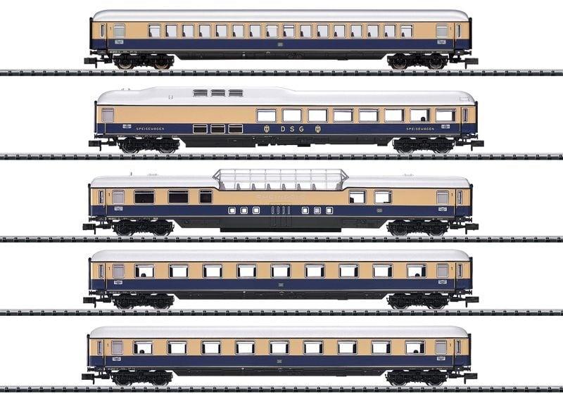 Schnellzugwagen-Set Rheingold 62, 5-tlg, Ep. III, Spur N