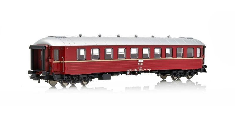 Topline Personenwagen B4 25956 der NSB, Gammeldesign,Spur H0