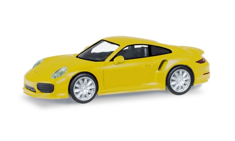 Porsche 911 Turbo, Racinggelb, 1:87 / Spur H0