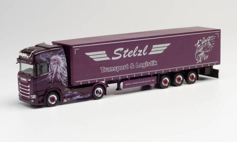 Scania CS 20 HD Gardinenplanen-Sattelzug Stelzl H0 / 1:87